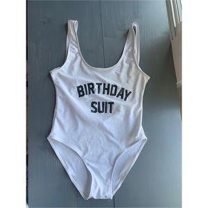 """birthday suit"" swim suit"